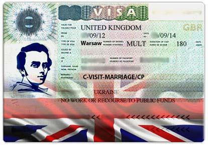 Великобритания виза невесты